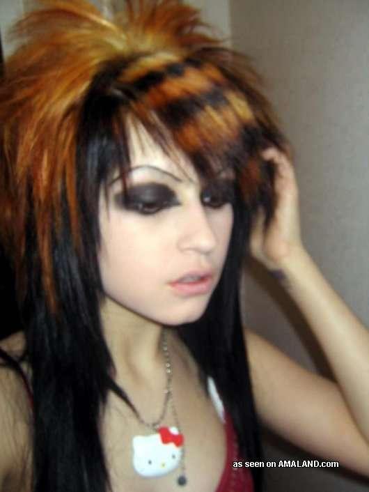 Various Steamy Punk Rocker Wild Amateur Honeys From Badass Girlfriends