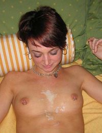 Picture collection of babes with hot cum on their sexy bodies from jizzonmygf