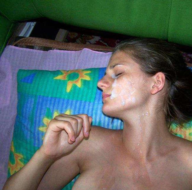 голые жены в сперме фото