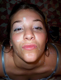 Blowjob queen Paula getting a facial from jizzonmygf