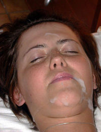 Hot photos of cum facials on various kinky girlfriends from jizzonmygf