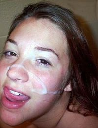 Photo collection of horny amateur honeys who love their jizz facials from jizzonmygf