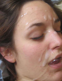 Pictures of amateur chicks' hot cum facials from jizzonmygf