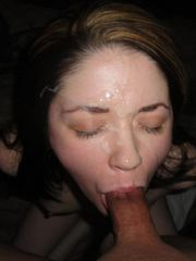Horny amateur babes enjoying hot messy jizz from jizzonmygf