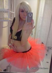 Hot photo collection of an emo doll in her tutu and lingerie from My Alternative GF