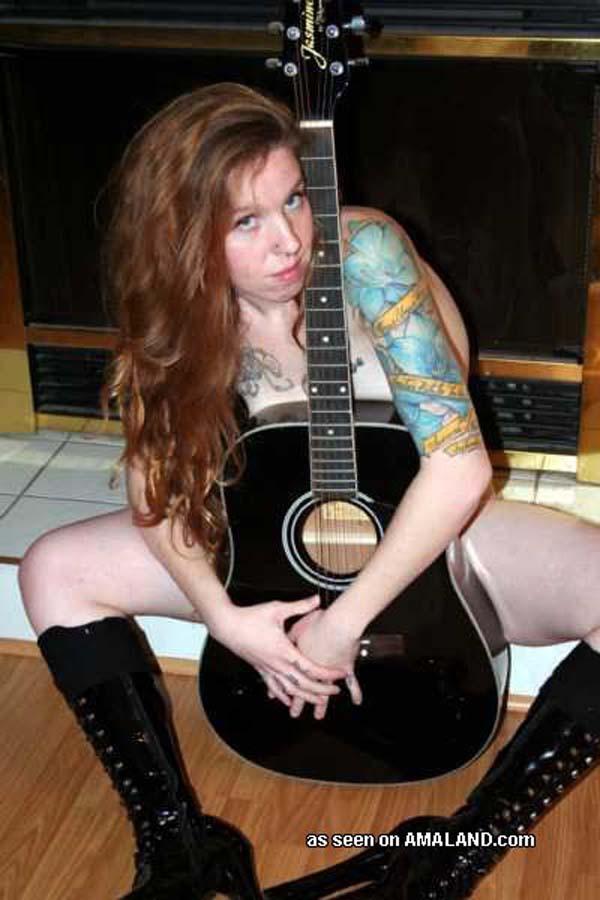 Naked guitar gothic