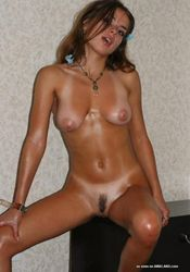 Gorgeous amateur wild hot naked oiled up chica posing from The GF Network