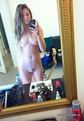 Steamy amateur babe gets naked while camwhoring from The GF Network