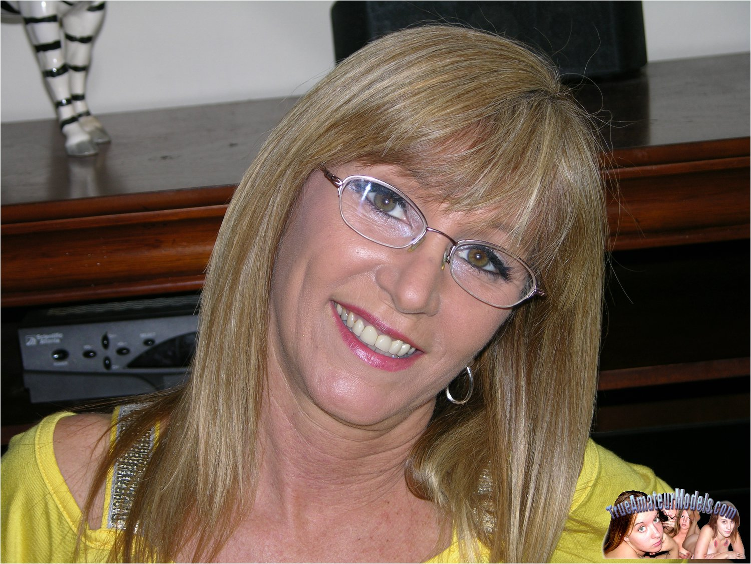 All Nude milf wearing glasses right! like